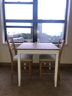 Dining table and two chairs for Sale in Milwaukee, WI