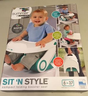 Sit'N Style compact folding booster seat (New) for Sale in Bremerton, WA
