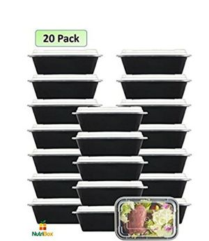 NEW! [20 Value Pack] single one compartment 24 OZ Meal Prep Plastic Food Storage Containers - BPA Free Reusable Lunch Bento Box for Sale in Stuart, FL