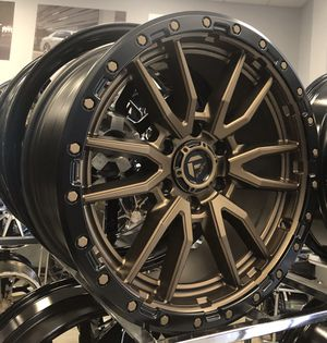"""NEW FOR 2020! Fuel Rebel 20"""" Matte Black Bronze Rims Wheels 6x5.5 Chevy Nissan Dodge 6x139.7 for Sale in Town 'n' Country, FL"""