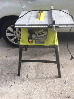 """Ryobi 10"""" table saw with Diablo blade push stick and fence. Great saw for beginners and hobbyists. Everything works great. for Sale in Riverview, FL"""