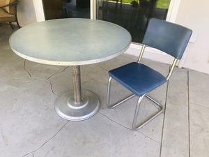 Vintage Formica table round dinette set blue for Sale in Lemon Grove, CA