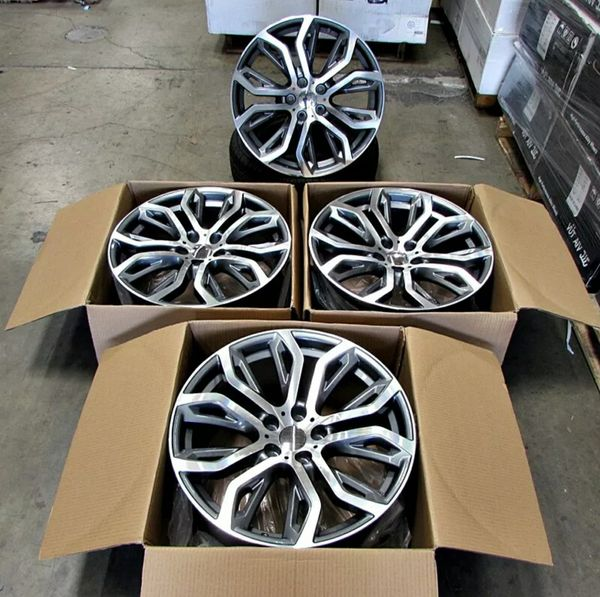 """Brand new 20"""" M STYLE 20x10/11 staggered wheels rims fits BMW X5 X6"""