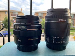 Canon 50mm f1.4 & 18-55mm f3.5 - 5.6 for Sale in Chicago Ridge, IL