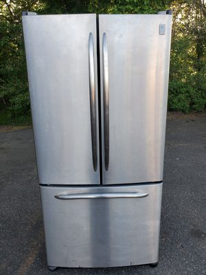 GE 33wide stainless steel fridge good working conditions for Sale in Wheat Ridge, CO