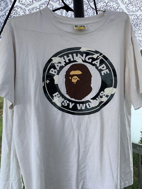 A bathing ape city camo busy works tee shirt