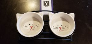 Y YHY Cat Bowls Elevated Raised cat bowls for Food and water for Sale in Marysville, OH