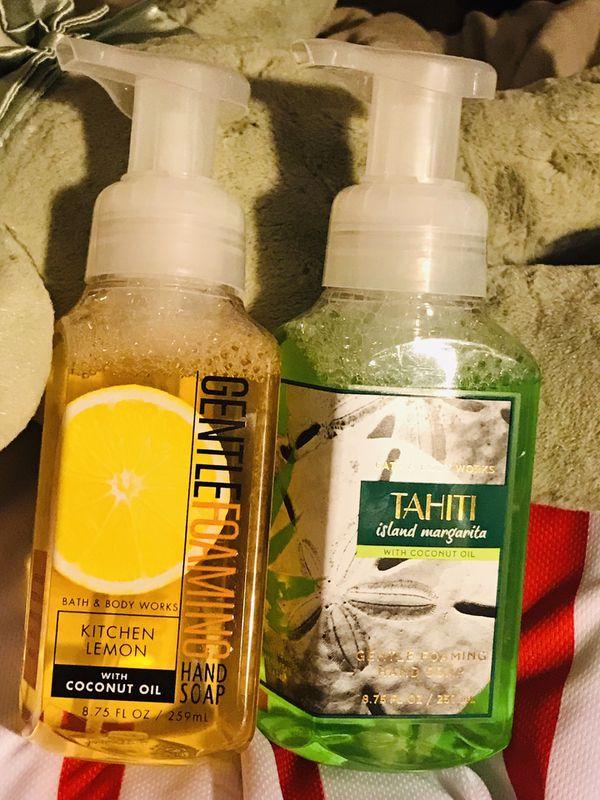 Bath and body works foam hand soap kitchen lemon and Tahiti island margarita hand wash