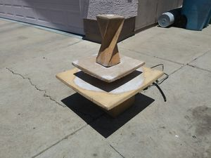 Concrete water fountain in good condition 32 high by 24 by 24 for Sale in Phoenix, AZ
