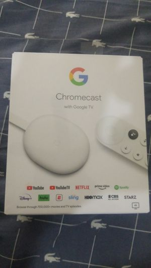NEW Chromecast with Google TV - 4K - Snow for Sale in Webster, TX