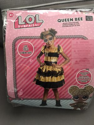 LOL Surprise Costume Queen Bee size Large (ages 4-6) for Sale in La Mirada, CA