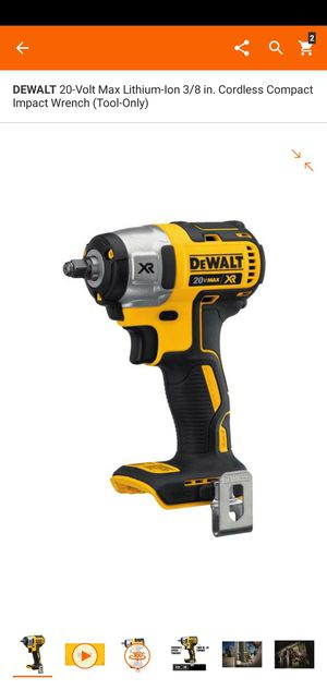 DEWALT 20-Volt Max Lithium-Ion 3/8 in. Cordless Compact Impact Wrench (Tool-Only) for Sale in Dumfries, VA