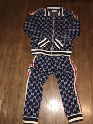 Gucci Blue Tracksuit Men's Size Large Brand New In Hand Never Worn Jordan for Sale in Maywood, IL