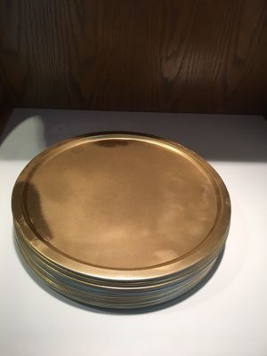 27 gold painted trays : chargers for Sale in Silver Spring, MD