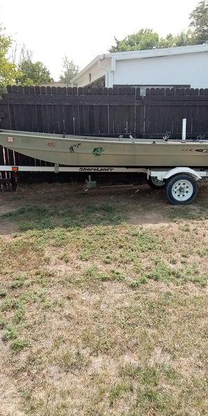 14 ft Sullivan Jon boat 2005 all accessories shorelander trailer for Sale in Denver, CO