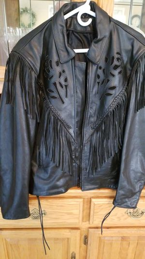 Ladies, rose/fringe biker jacket $50.00 for Sale in House Springs, MO