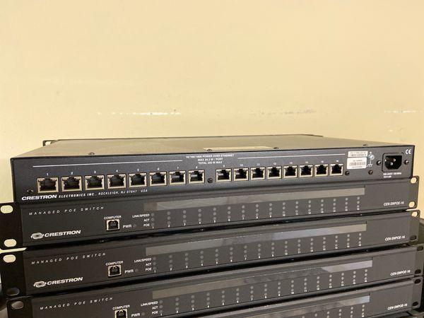 Crestron CEN-SWPOE-16 16 port Gigabit managed switches