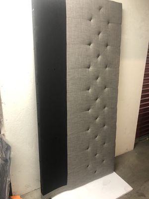 Headboard king size(just the headboard )🌸 gray color for Sale in Las Vegas, NV