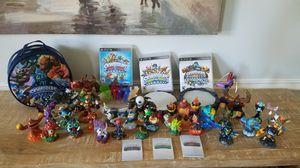 Multiple PS3 Skylanders games w/portals, figures/cards & storage case for Sale in Bel Air, MD