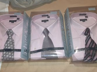 SHIRTS & HANDMADE WOVEN TIES SIZES XLT-XXXL for Sale in Ontario,  CA