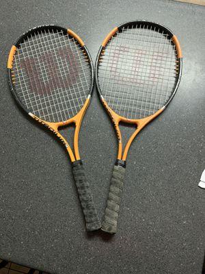 2 Wilson Softshock tennis Rackets $30 for Sale in El Mirage, AZ