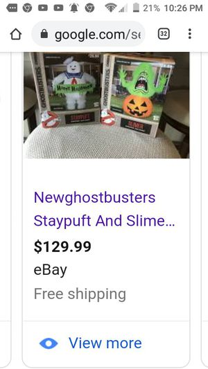 Brand new never opened or used State and slimer air inflatables Halloween for Sale in Fresno, CA