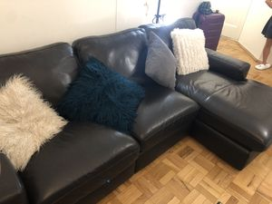 Brown Leather Sofa L Shape for Sale for sale  New York, NY