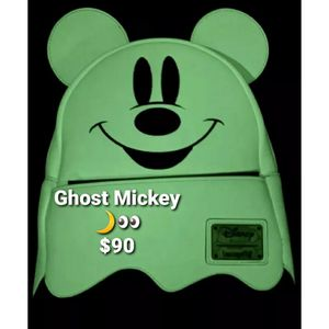 New Disney x Loungefly Backpack [Ghost Mickey] Glows in the Dark for Sale in Lakewood, CA