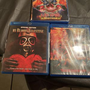 My Bloody Valentine Special Edition + Killer Know a From Outer Space + Deadlands Blu Ray Lot Horror Collection for Sale in West Sacramento, CA
