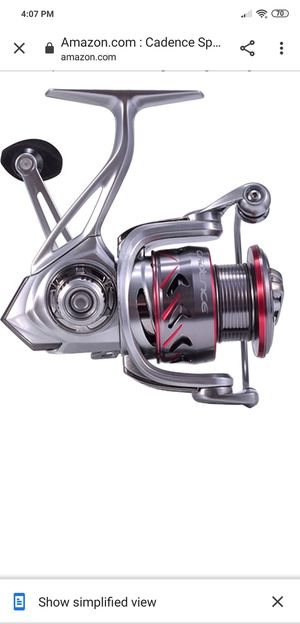 Cadence Spinning Reel, CS7 Strong Aluminum Frame Fishing Reel with 10 Durable & Corrosion Resistant Bearings for Sale in Indianapolis, IN