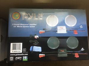 Waterproof speakers and amp for Sale in St. Louis, MO