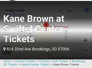 Two kane brown tickets for Sale in Sioux Falls, SD