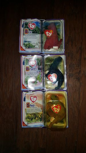 McDonald's Ty Beanie Babies dinosaur Trio collection of 3 for Sale in Santa Ana, CA