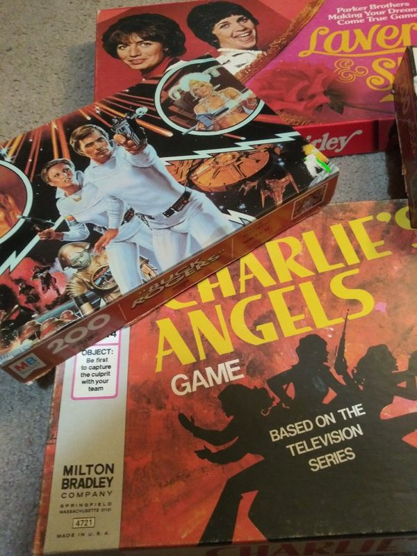 Vintage puzzles and board games.