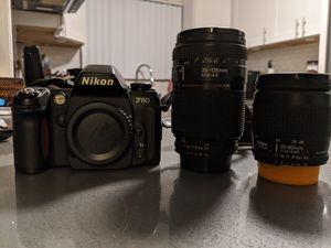Nikon F80 35mm SLR and 2 lenses for Sale in El Segundo, CA