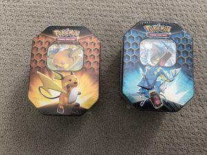 Hidden Fates Pokemon Gyarados and Raichu Tins New for Sale in Herndon, VA