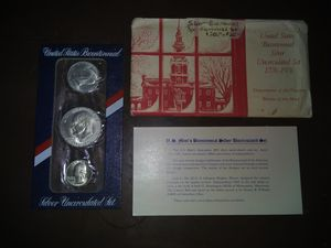 United States Bicentennial Silver Set 1776-1976 for Sale in New Braunfels, TX