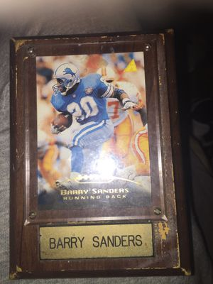 Barry Sanders picture and frame for Sale in Detroit, MI