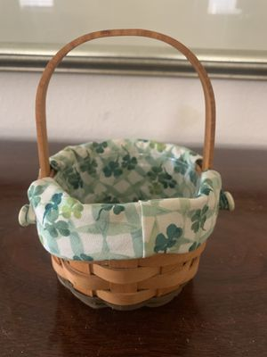 Mini St Patrick's collectible Longaberger Basket for Sale in Oak Glen, CA