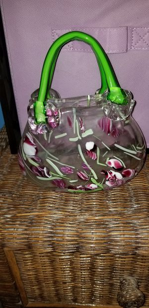 Beautiful blown glass handbag for Sale in Bakersfield, CA