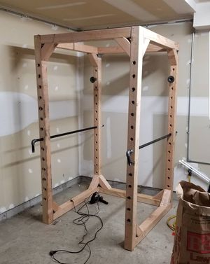 Homemade wooden power rack for Sale in Columbus, OH