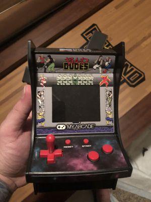 Bad dudes mini arcade game for Sale in Puyallup, WA