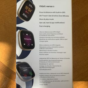 New Fitbit Versa 3 + GPS Smart Watch for Sale in Fairfax, VA