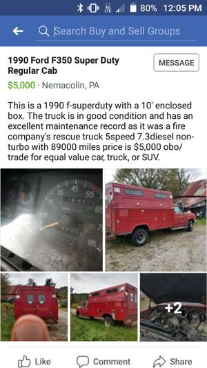 Red Ford F350 regular cab for Sale in Carmichaels, PA