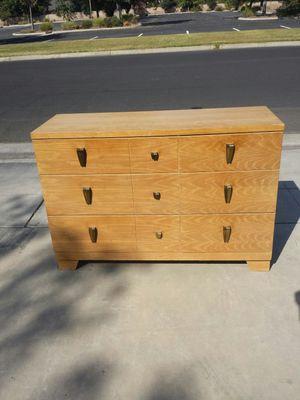 Dresser 6 Drawer Light Color Wood Dresser for Sale in Clovis, CA