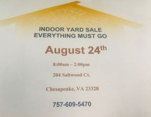 Indoor Moving Sale EVERYTHING MUST GO for Sale in Newport News, VA