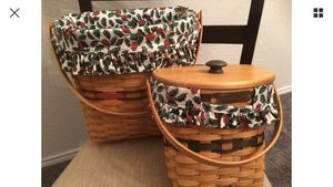 Longaberger Hostess Winter Wishes Glad Tidings Basket Holly Christmas Lot for Sale in Neosho, MO