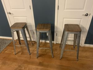 """Bar stools, farmhouse style. Floor to seat height is 29.5"""" for Sale in Wilsonville, OR"""