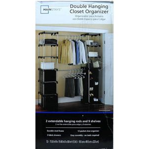 Whitmor Double Rod Adjustable Closet Organization System for Sale in Kirkland, WA