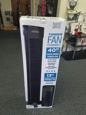 """tower fan 40"""" and 13"""" combo... ventilador de 40"""" y otro de 13"""" for Sale in Arlington, TX"""